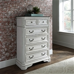 Magnolia Manor 5 Drawer Chest in Antique White Finish by Liberty Furniture - 244-BR41