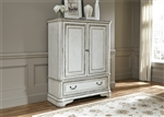 Magnolia Manor Door Chest in Antique White Finish by Liberty Furniture - 244-BR42