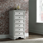 Magnolia Manor Lingerie Chest in Antique White Finish by Liberty Furniture - 244-BR43