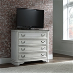 Magnolia Manor Media Chest in Antique White Finish by Liberty Furniture - 244-BR45
