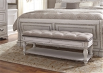 Magnolia Manor Bench in Antique White Finish by Liberty Furniture - 244-BR47