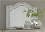 Magnolia Manor Arched Landscape Mirror in Antique White Finish by Liberty Furniture - 244-BR52