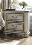 Magnolia Manor 2 Drawer Night Stand in Antique White Finish by Liberty Furniture - 244-BR61