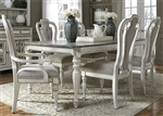 Magnolia Manor 44 x 90 Rectangular Table 7 Piece Dining Set in Antique White Finish by Liberty Furniture - 244-DR-7RLS