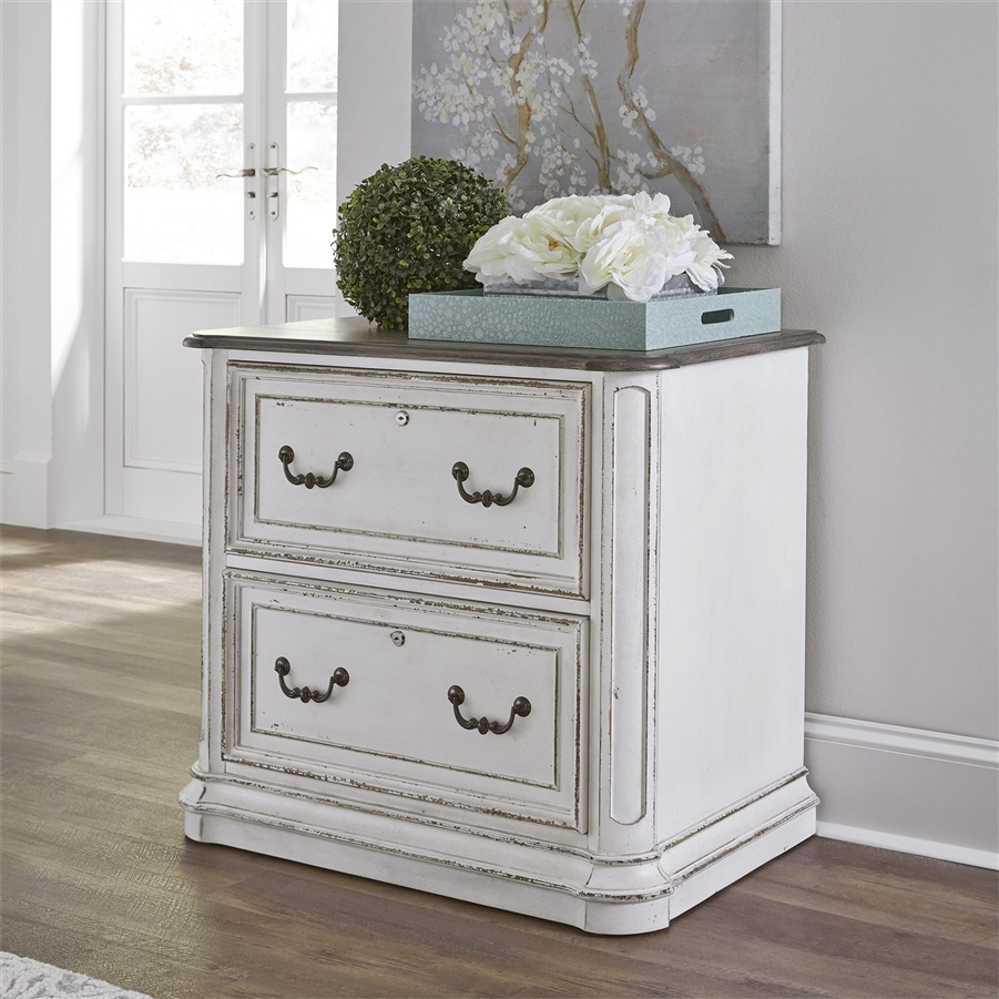 Magnolia Manor Jr Executive Media Lateral File In Antique White Finish By  Liberty Furniture   244 HO146