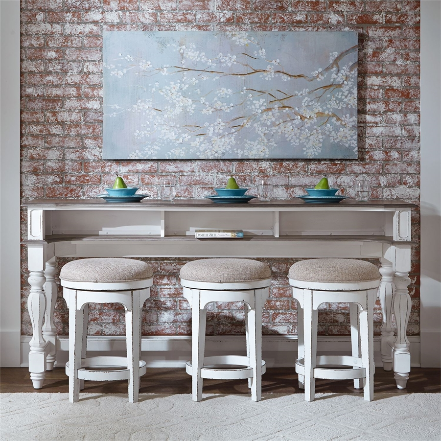 Magnolia Manor 4 Piece Console Table Set in Antique White Finish by ...