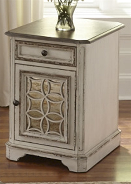 Magnolia Manor Round Cocktail Table In Antique White Finish By Liberty  Furniture   244 OT1011