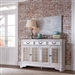 Magnolia Manor Hall Buffet in Antique White Finish by Liberty Furniture - 244-SR6642