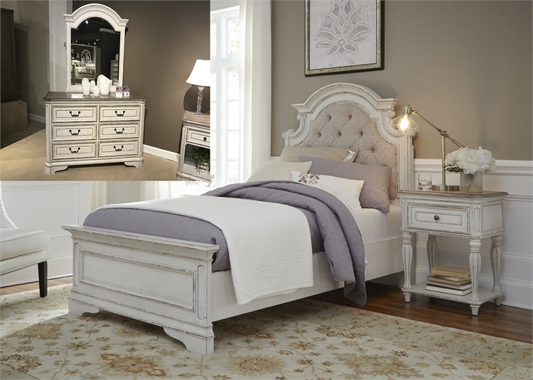 Magnolia Manor Youth Bedroom Set in Antique White Finish by Liberty  Furniture - 244-YBR-TUBDM