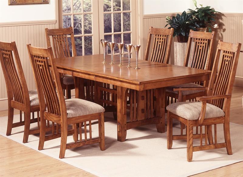 Santa Rosa Trestle Table 7 Pc Set In, Furniture Santa Rosa