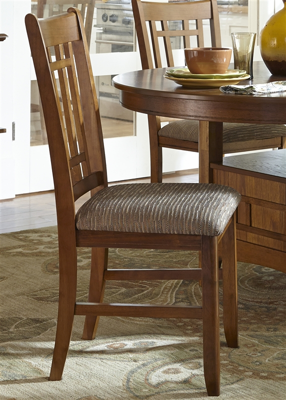 Santa Rosa Pedestal Table 5 Piece Dining Set In Mission Oak Finish By Liberty Furniture