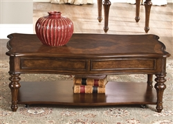 Andalusia Cocktail Table in Vintage Cherry Finish by Liberty Furniture - 259-OT