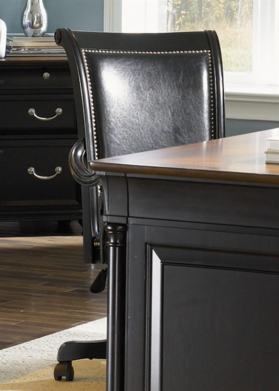 St. Ives Jr Executive Desk In Two Tone Finish By Liberty Furniture    260 HO105