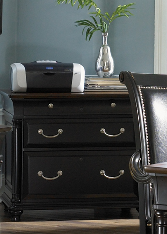 678129d3402 St. Ives Jr Executive Desk in Two Tone Finish by Liberty Furniture -  260-HO105