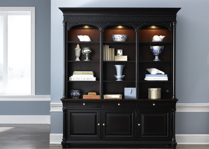 St Ives Executive Bookcase In Two Tone Finish By Liberty