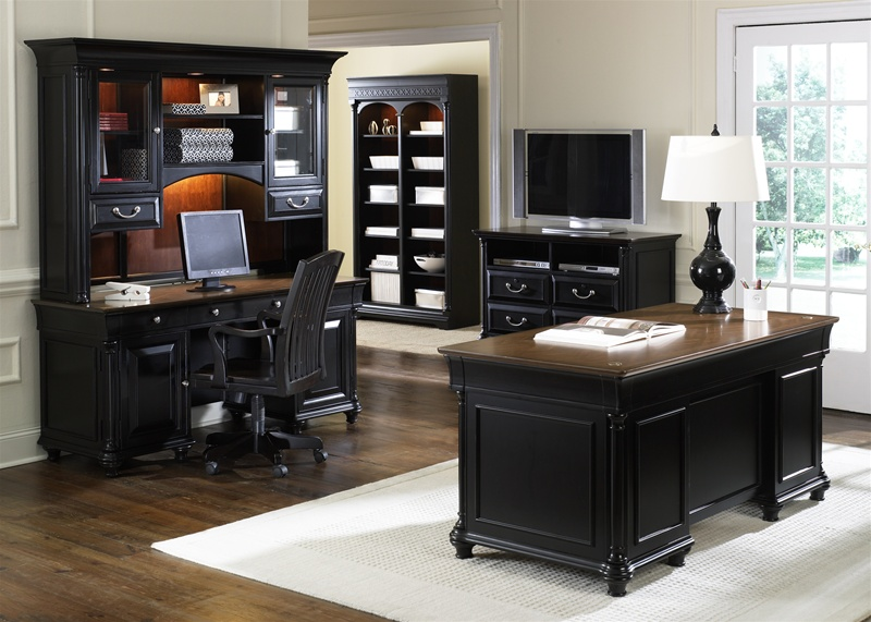 st ives 5 piece jr executive home office set in two tone finish by liberty