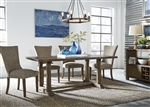 Havenbrook Trestle Table 5 Piece Dining Set in Rustic Russet Finish by Liberty Furniture - 262-CD-5TRS