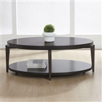 Penton Oval Cocktail Table in Espresso Stone Finish by Liberty Furniture - 268-OT