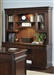 Brayton Manor Jr Executive Credenza and Hutch in Cognac Finish by Liberty Furniture - 273-HO131