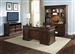 Brayton Manor Jr Executive 5 Piece Home Office Set in Cognac Finish by Liberty Furniture - 273-HOJ-5JES