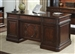 Brayton Manor Jr Executive Desk in Cognac Finish by Liberty Furniture - 273-HOJ-JED