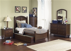 Abbott Ridge 4 Piece Youth Bedroom Set in Cinnamon Finish by Liberty Furniture - 277-BR11