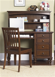 Abbott Ridge Desk & Hutch in Cinnamon Finish by Liberty Furniture - 277-BR70B