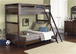 Abbott Ridge Twin/Full BunkBed in Cinnamon Finish by Liberty Furniture - 277-YBUNK