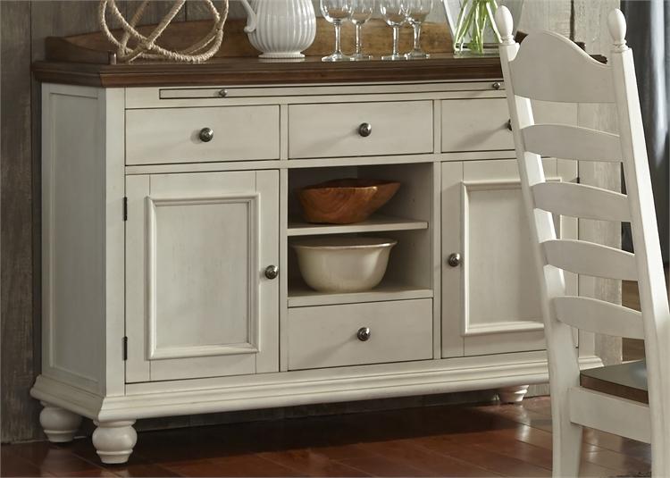 Springfield Sideboard In Two Tone Honey U0026 Cream Finish By Liberty Furniture    LIB 278 SB5236
