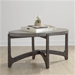 Cascade Oval Cocktail Table in Wire Brush Rustic Brown Finish by Liberty Furniture - 292-OT1010