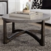 Cascade Round Cocktail Table in Wire Brush Rustic Brown Finish by Liberty Furniture - 292-OT1011
