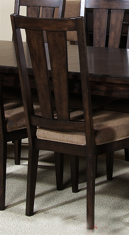 visions furniture. Visions Rectangular Leg Table Splat Back Chairs 5 Piece Dining Set In Waxed Dark Mocha Finish By Liberty Furniture - 294-T4284