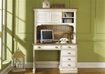 Ocean Isle Youth Desk and Hutch in Bisque with Natural Pine Finish by Liberty Furniture - 303-BR70B