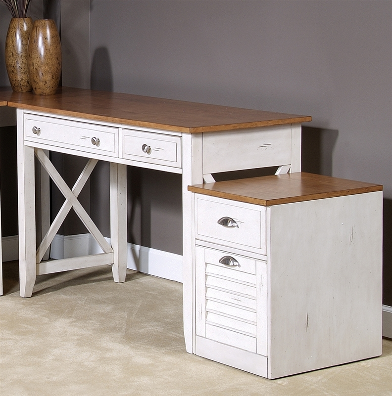 Ocean Isle Writing Desk In Bisque With Natural Pine Finish By Liberty Furniture 303 Ho111