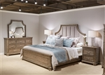 Palladian Place Panel Bed 6 Piece Bedroom Set in Oyster Pearl Metallic Finish by Liberty Furniture - 307-BR-QPBDMN