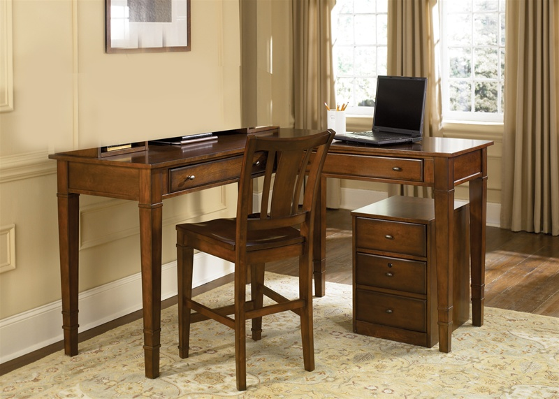 Exceptionnel Work Horse Regular/Counter Height Home Office Desk In Amaretto Finish By  Liberty Furniture   313 HO111