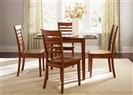 Cafe Collections Drop Leaf Table 3 Piece Dining Set in Cognac Finish by Liberty Furniture - 33-T3048