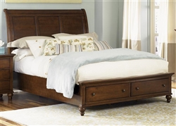 Hamilton Sleigh Bed in Cinnamon Finish by Liberty Furniture - 341-BR-QSL