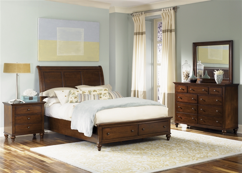 Hamilton Storage Bed 6 Piece Bedroom Set in Cinnamon Finish by ...