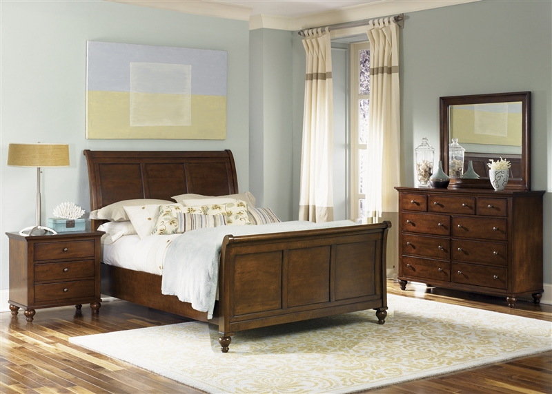 Hamilton Sleigh Bed 10 Piece Bedroom Set in Cinnamon Finish by Liberty  Furniture - 10-BR10F