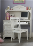 Arielle Desk & Hutch in Antique White Finish by Liberty Furniture - 352-BR70B