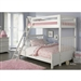 Arielle Twin/Full BunkBed in Antique White Finish by Liberty Furniture - 352-YBUNK
