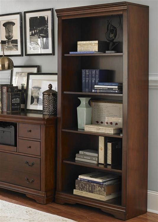 Brookview Writing Desk In Rustic Cherry Finish By Liberty Furniture Lib 378 Ho107
