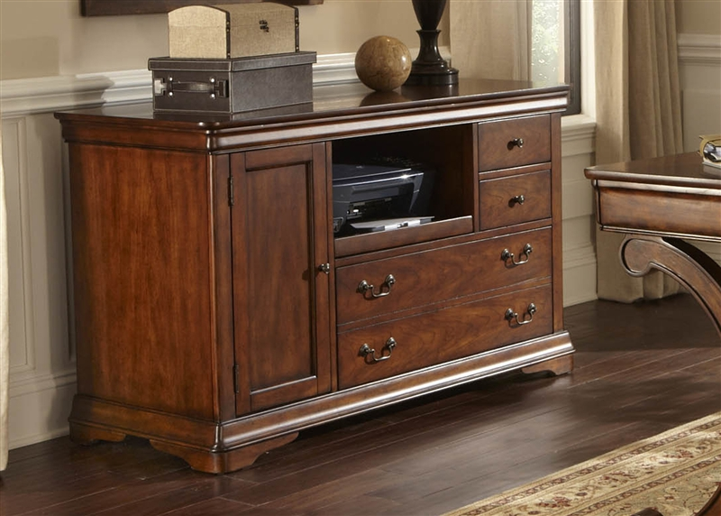 brookview credenza in rustic cherry finish by liberty furniture lib378ho121