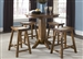 Creations II Pub Table 3 Piece Dining Set in Tobacco Finish by Liberty Furniture - 38-PUB3636