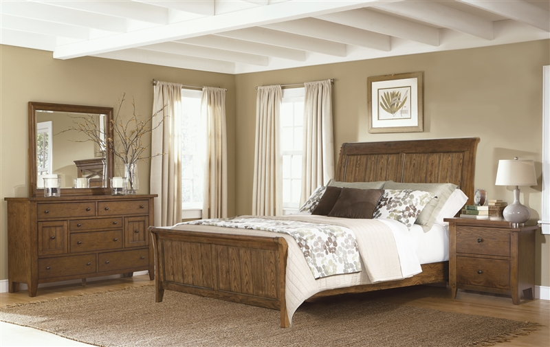 Rustic Sleigh Bedroom Furniture Liberty Furniture