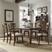 Hearthstone 7 Piece Rectangular Leg Table with X Back Chairs in Rustic Oak Finish by Liberty Furniture - 382-DR-O7RLS