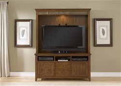 Hearthstone Entertainment in Rustic Oak Finish by Liberty Furniture - 382-EC00