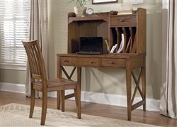 Hearthstone 2 Piece Home Office in Rustic Oak Finish by Liberty Furniture - 382-HO-CDS