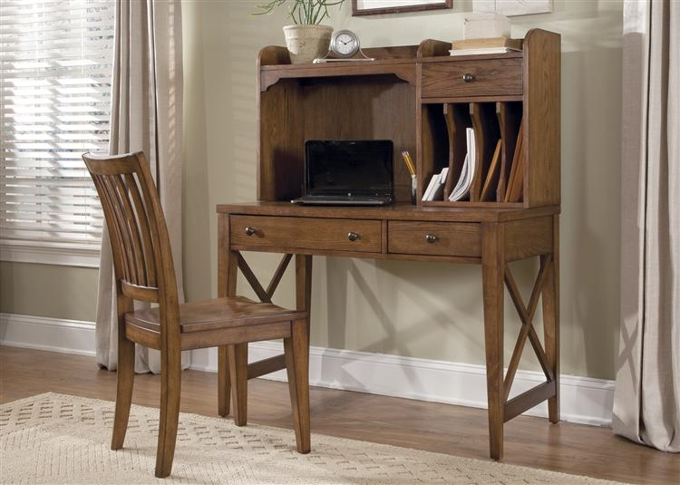 Hearthstone Writing Desk In Rustic Oak Finish By Liberty Furniture    382 HO111